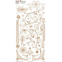 Fiskars - Heidi Grace Designs - Rub Ons - Embellishments - Maple Crest Court Collection, CLEARANCE