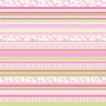 Fiskars - Heidi Grace Designs - 12x12 Double-Sided Cardstock - Baby Girl Collection - Decor Stripe, CLEARANCE