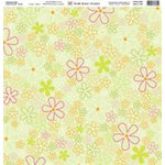 Fiskars - Heidi Grace Designs - 12x12 Embossed Paper - Heidi's Flowers Collection - Flowers