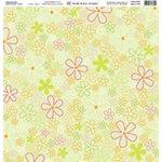 Fiskars - Heidi Grace Designs - 12x12 Embossed Paper - Heidi's Flowers Collection - Flowers