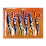 Fiskars - Scissors - 6 Pack Paper Edgers - Classic Set