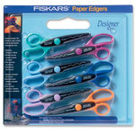 Fiskars - Scissors - 6 Pack Paper Edgers - Designer Set, CLEARANCE