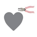Fiskars - Teresa Collins - Hand Punch - One Quarter Inch - Heart