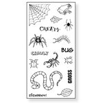 Fiskars - Simple Stick - Repositionable Rubber Stamps - Creepy Crawly