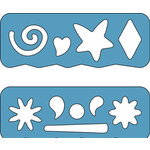 Fiskars - Shape Template Set - 2 Piece - Shapes and Flowers