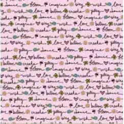Fiskars - Heidi Grace Designs - Reagan's Closet Collection - 12 x 12 Shimmer Glitter Paper - Decor Words, CLEARANCE