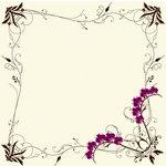 Fiskars - Heidi Grace Designs - Forever Love Collection -  12 x 12 Glitter Paper - Blooming Border, BRAND NEW