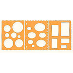 Fiskars - Shape Template - 3 Pack - Circles Ovals and Rectangles
