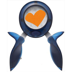 Fiskars - Squeeze Punch - Extra Large - Skewed Heart - Funky Love