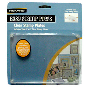 Fiskars - Easy Stamp Press - Clear Stamp Extra Plates - Two Pack