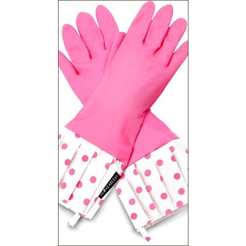 Flirty Aprons - Gloveables Collection - Designer Gloves - Pink Polka Dot