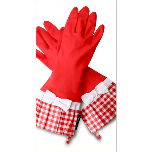 Flirty Aprons - Gloveables Collection - Designer Gloves - Sassy Red Gingham