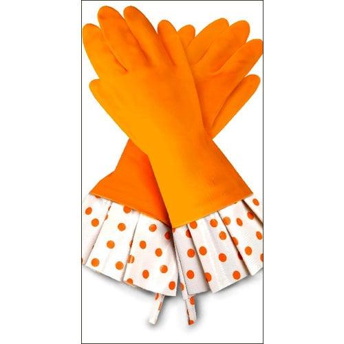 Flirty Aprons - Gloveables Collection - Designer Gloves - Citrus Polka Dot