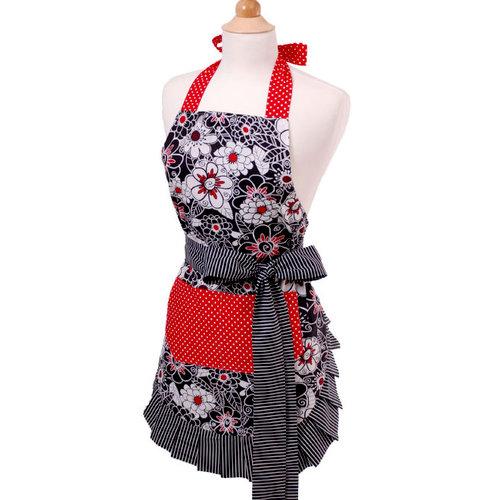 Scrapbook.com - Retro Designer Aprons - Women's - Scarlet Blossom