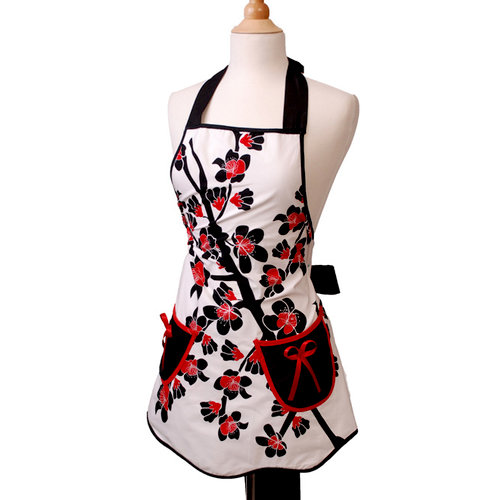Scrapbook.com - Retro Designer Aprons - Women's - Scalloped Cherry Blossom