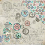 FabScraps - Dream Steam Collection - 12 x 12 Double Sided Paper - Steam Queen