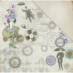 FabScraps - Dream Steam Collection - 12 x 12 Double Sided Paper - Techno Fantasy