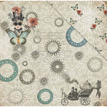 FabScraps - Dream Steam Collection - 12 x 12 Double Sided Paper - Play Ground