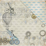 FabScraps - Dream Steam Collection - 12 x 12 Double Sided Paper - 19th Century