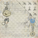 FabScraps - Dream Steam Collection - 12 x 12 Double Sided Paper - Victorian Futurism