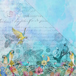 FabScraps - Wild Beauty Collection - 12 x 12 Double Sided Paper - Parrot Paradise