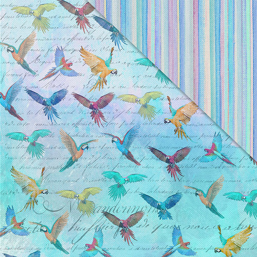 FabScraps - Wild Beauty Collection - 12 x 12 Double Sided Paper - Birds Of A Feather