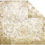 FabScraps - Timeless Travel Collection - 12 x 12 Double Sided Paper - Map