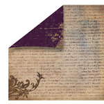 FabScraps - Heritage Collection - 12 x 12 Double Sided Paper - Script 3