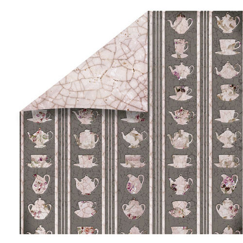 FabScraps - High Tea Collection - 12 x 12 Double Sided Paper - Sets