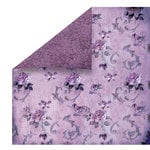 FabScraps - High Tea Collection - 12 x 12 Double Sided Paper - Purple Floral