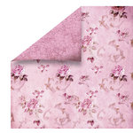 FabScraps - High Tea Collection - 12 x 12 Double Sided Paper - Pink Floral