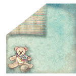 FabScraps - Vintage Baby Collection - 12 x 12 Double Sided Paper - Bear