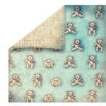 FabScraps - Vintage Baby Collection - 12 x 12 Double Sided Paper - Bearings