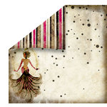 FabScraps - Burlesque Collection - 12 x 12 Double Sided Paper - Diva