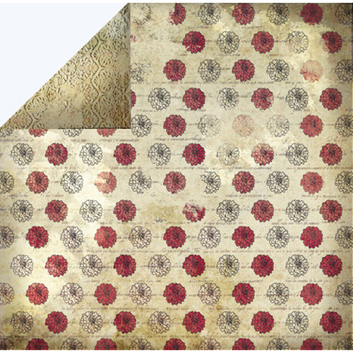 FabScraps - Classic Collection - 12 x 12 Double Sided Paper - Flower