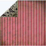 FabScraps - Classic Collection - 12 x 12 Double Sided Paper - Red Stripe