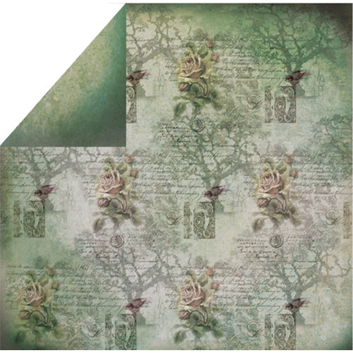 FabScraps - Organic Collection - 12 x 12 Double Sided Paper - Tree