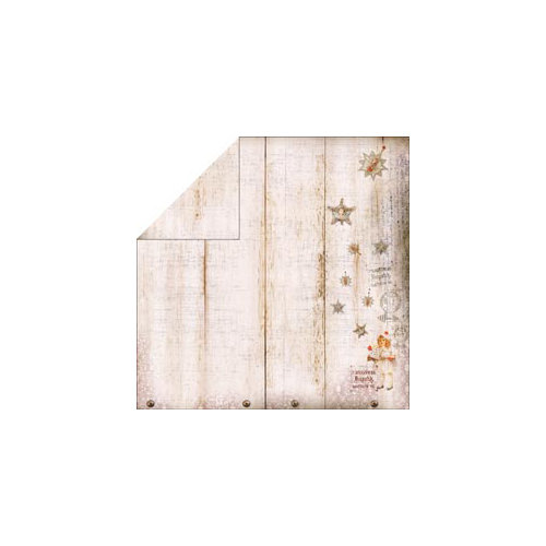 FabScraps - Christmas Collection - 12 x 12 Double Sided Paper - Star Sparkles
