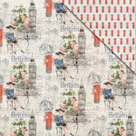 FabScraps - Love 2 Travel Collection - 12 x 12 Double Sided Paper - Britain