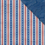 FabScraps - Love 2 Travel Collection - 12 x 12 Double Sided Paper - Stars and Stripes