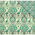 FabScraps - Floral Delight Collection - 12 x 12 Double Sided Paper - Birds and Butterflies 2
