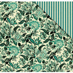 FabScraps - Floral Delight Collection - 12 x 12 Double Sided Paper - Floral Delight