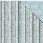 FabScraps - Tranquility Collection - 12 x 12 Double Sided Paper - French Stripe