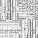 FabScraps - Tranquility Collection - 12 x 12 Double Sided Paper - French Rulers