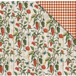 FabScraps - Country Kitchen Collection - 12 x 12 Double Sided Paper - Hot Chilli
