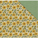 FabScraps - Country Kitchen Collection - 12 x 12 Double Sided Paper - Sunflowers
