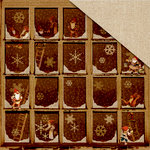 FabScraps - Christmas Memories Collection - 12 x 12 Double Sided Paper - Working Elves