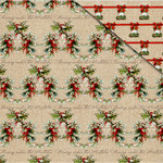FabScraps - Christmas Memories Collection - 12 x 12 Double Sided Paper - Christmas Holly