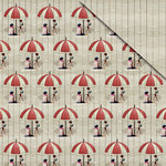 FabScraps - Beach Bliss Collection - 12 x 12 Double Sided Paper - Beach Umbrella 1