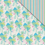 FabScraps - Kaleidoscope Collection - 12 x 12 Double Sided Paper - Kites Stripes